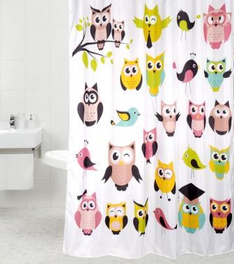 Duschvorhang Owl 180 x 200 cm