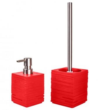 Badezimmer Set Calero Red