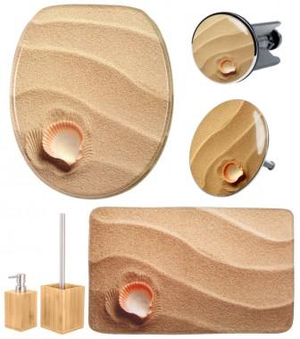 6-teiliges Badezimmer Set Clam
