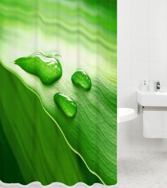 Duschvorhang Green Leaf 180 x 200 cm