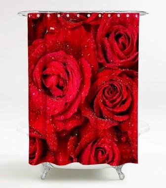 Duschvorhang Rosen 180 x 200 cm