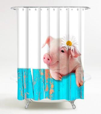 Duschvorhang Schwein 180 x 180 cm