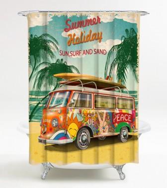Duschvorhang Summer Bus 180 x 200 cm