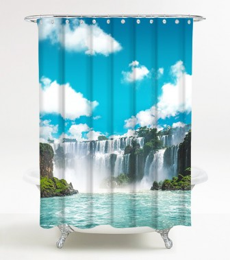 Duschvorhang Wasserfall 180 x 200 cm