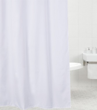 Duschvorhang Weiß 180 x 180 cm