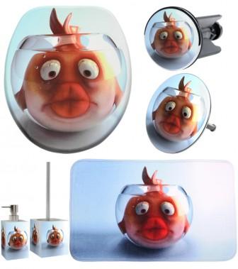 6-teiliges Badezimmer Set Goldfisch