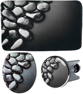 3-teiliges Badezimmer Set Hot Stones