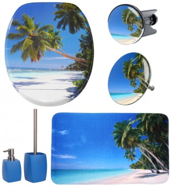 6-teiliges Badezimmer Set Karibik