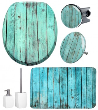 6-teiliges Badezimmer Set Lumber