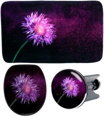 3-teiliges Badezimmer Set Purple Dust