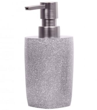 Seifenspender Glitzer Silber