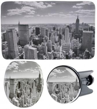 3-teiliges Badezimmer Set Skyline New York