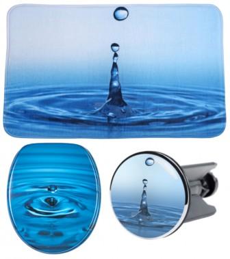 3-teiliges Badezimmer Set Wassertropfen