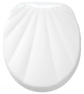 WC-Sitz Muschel Weiß