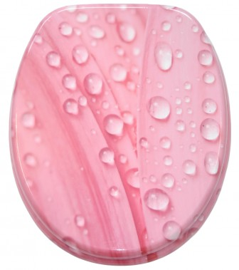 WC-Sitz mit Absenkautomatik Pink Flower