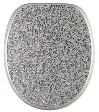 WC-Sitz mit Absenkautomatik Crystal Silver