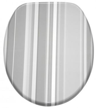 WC-Sitz mit Absenkautomatik Grey Stripes