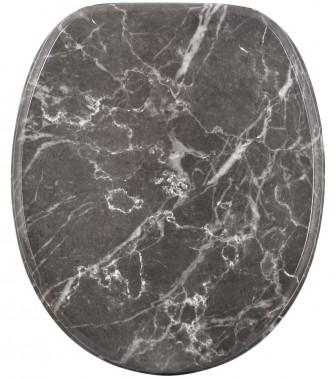 WC-Sitz mit Absenkautomatik Marmor Grau