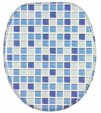 wc sitz mit absenkautomatik mosaik blau. Black Bedroom Furniture Sets. Home Design Ideas