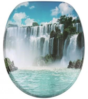 WC-Sitz mit Absenkautomatik Wasserfall