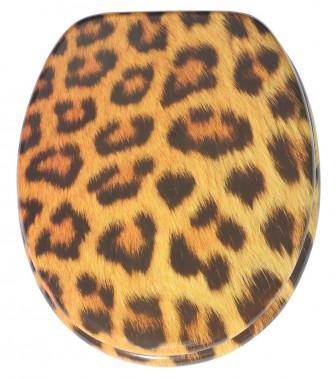 WC-Sitz mit Absenkautomatik Leopardenfell