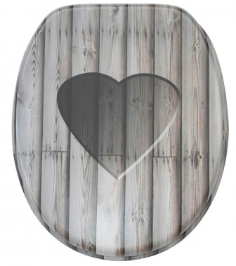 WC-Sitz Wooden Heart