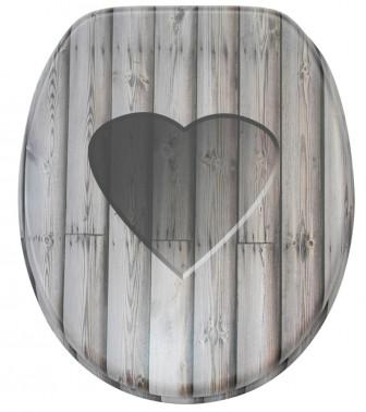 WC-Sitz mit Absenkautomatik Wooden Heart