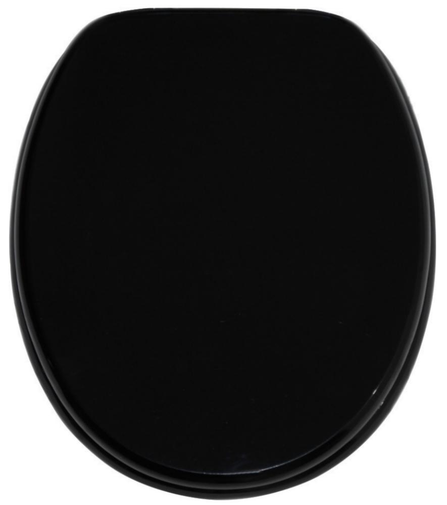 wc sitz mit absenkautomatik schwarz. Black Bedroom Furniture Sets. Home Design Ideas