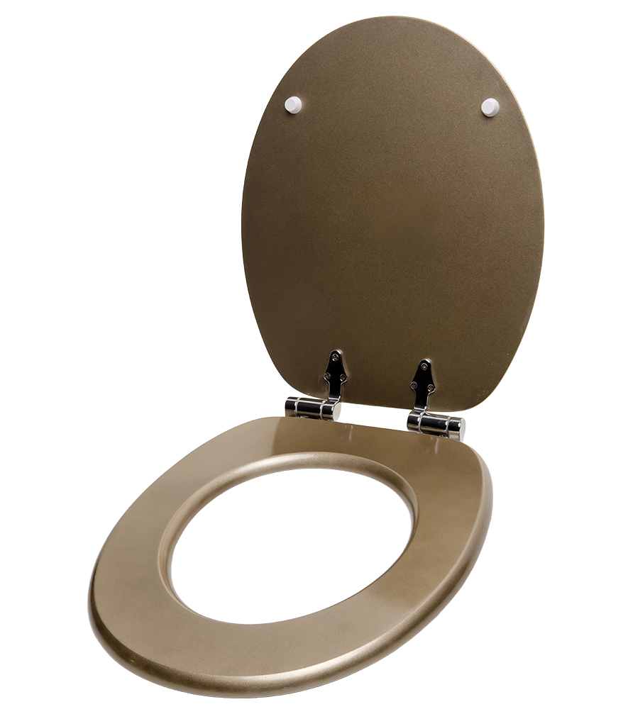 GLITTER SOFT CLOSE TOILET SEAT STABLE HINGES SLOW CLOSE GOLD EBay
