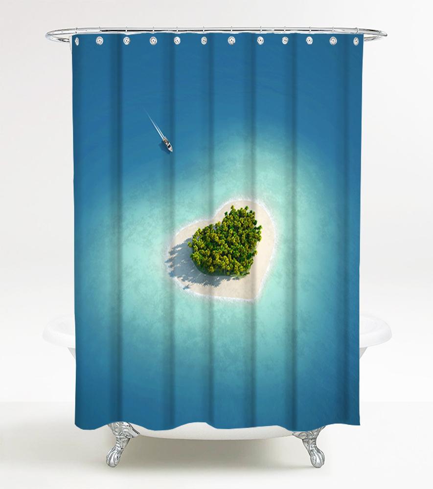 duschvorhang dream island. Black Bedroom Furniture Sets. Home Design Ideas