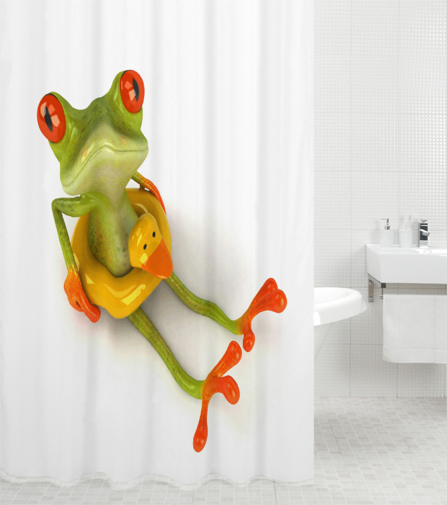 duschvorhang froggy. Black Bedroom Furniture Sets. Home Design Ideas