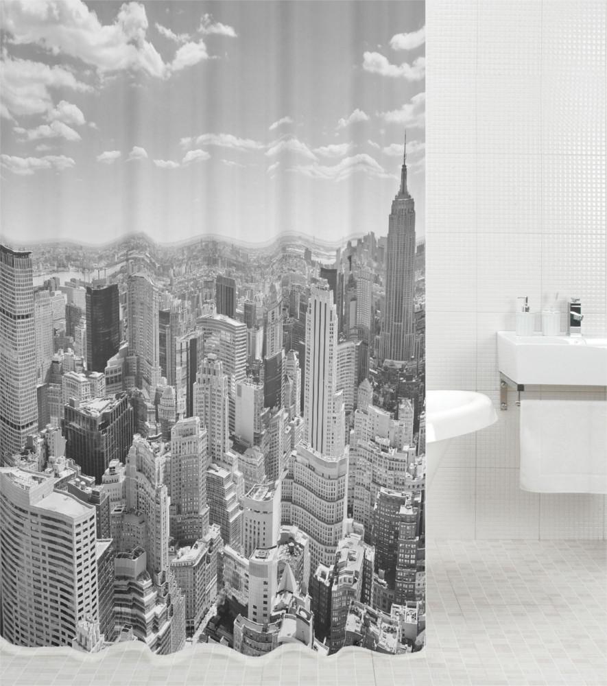 duschvorhang skyline new york. Black Bedroom Furniture Sets. Home Design Ideas