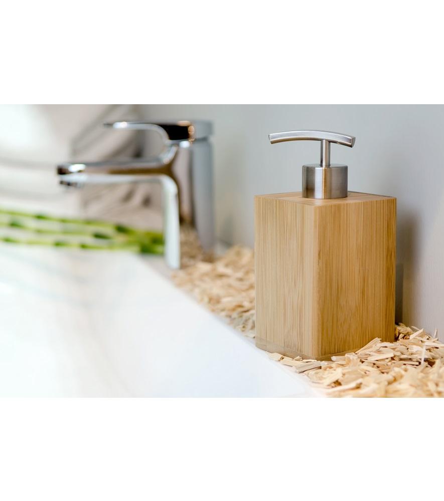 moderner seifenspender bambus stabile pumpe elegantes design echtes holz. Black Bedroom Furniture Sets. Home Design Ideas