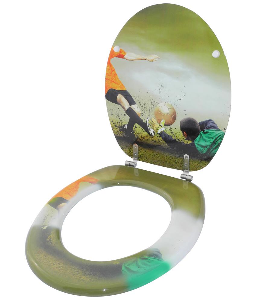 klobrille toilettensitz toilettenbrille wc brille klositz bad klo fussball goal ebay. Black Bedroom Furniture Sets. Home Design Ideas