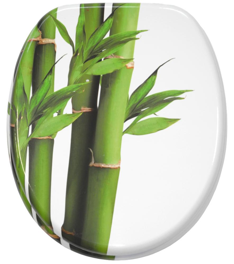 wc sitz mit absenkautomatik bambus gr n. Black Bedroom Furniture Sets. Home Design Ideas