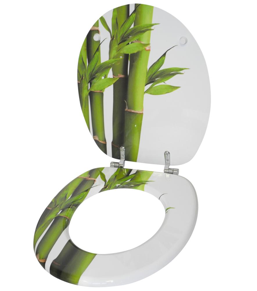 WC Sitz Bambus Grün  WCShop24de