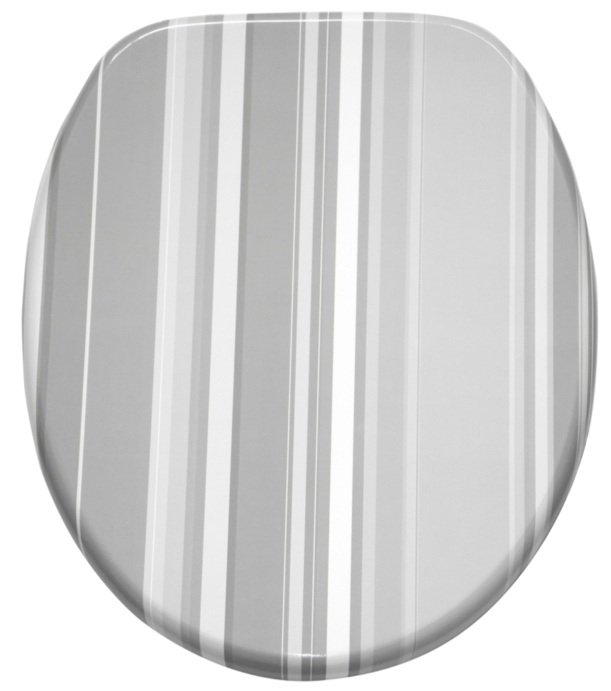 wc sitz mit absenkautomatik grey stripes. Black Bedroom Furniture Sets. Home Design Ideas