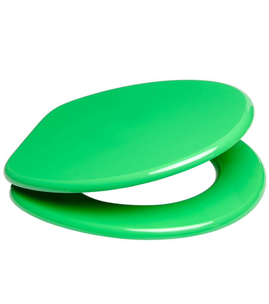 WC Sitz mit Absenkautomatik Grün  WCShop24de