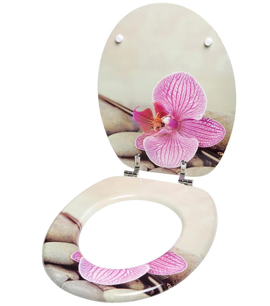 klobrille toilettensitz toilettenbrille wc brille klositz bad orchidee wellness ebay. Black Bedroom Furniture Sets. Home Design Ideas