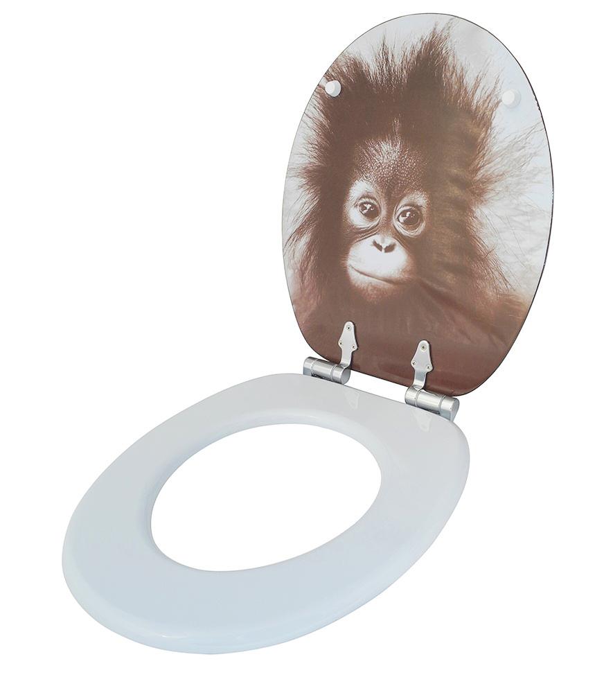 wc sitz toilettendeckel klodeckel klobrille wc deckel toilettensitz affe alfred ebay. Black Bedroom Furniture Sets. Home Design Ideas