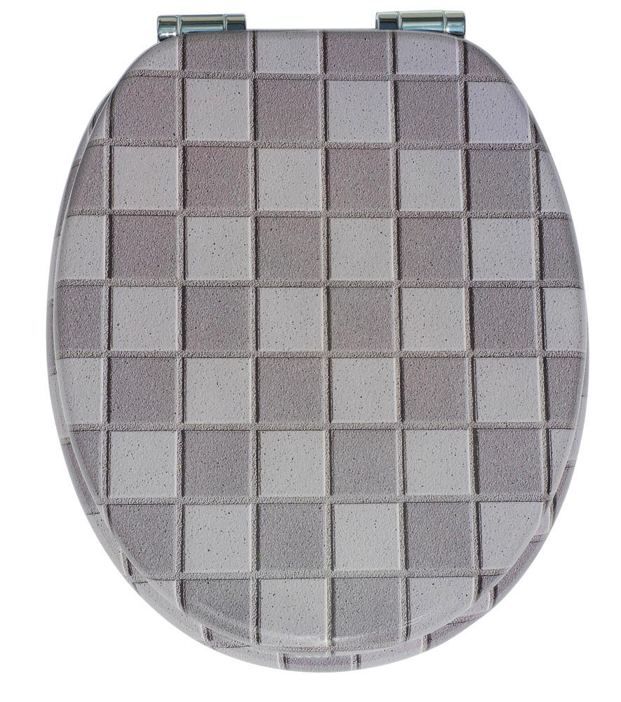 wc sitz toilettendeckel klodeckel wc deckel mit absenkautomatik mosaik gr n ebay. Black Bedroom Furniture Sets. Home Design Ideas