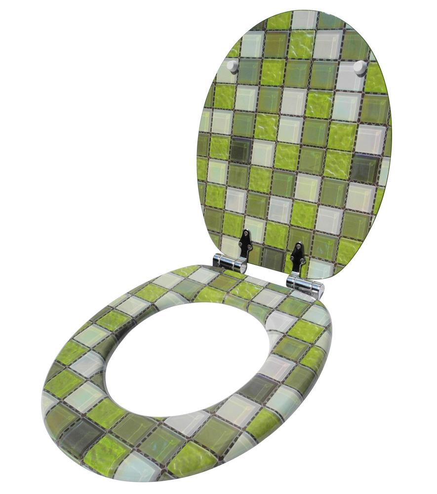 WC Sitz mit Absenkautomatik Mosaik Grün  WCShop24de