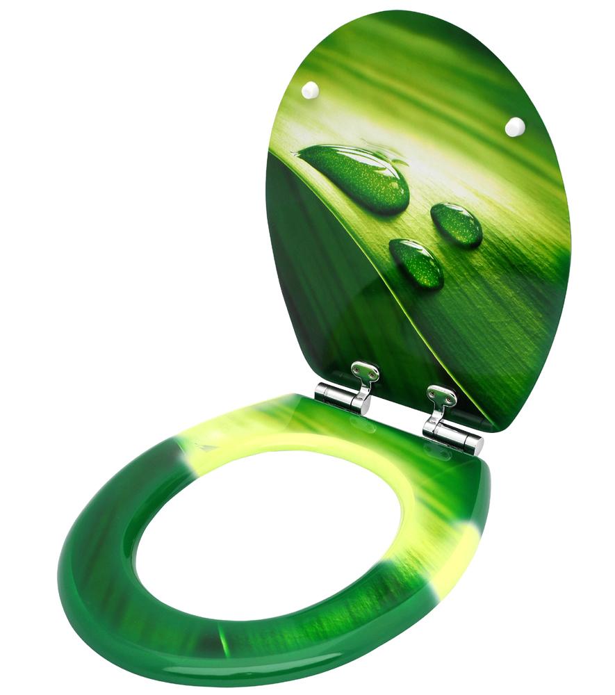 klositz klobrille wc brille toilettenbrille toilette gr n badezimmer green leaf ebay. Black Bedroom Furniture Sets. Home Design Ideas