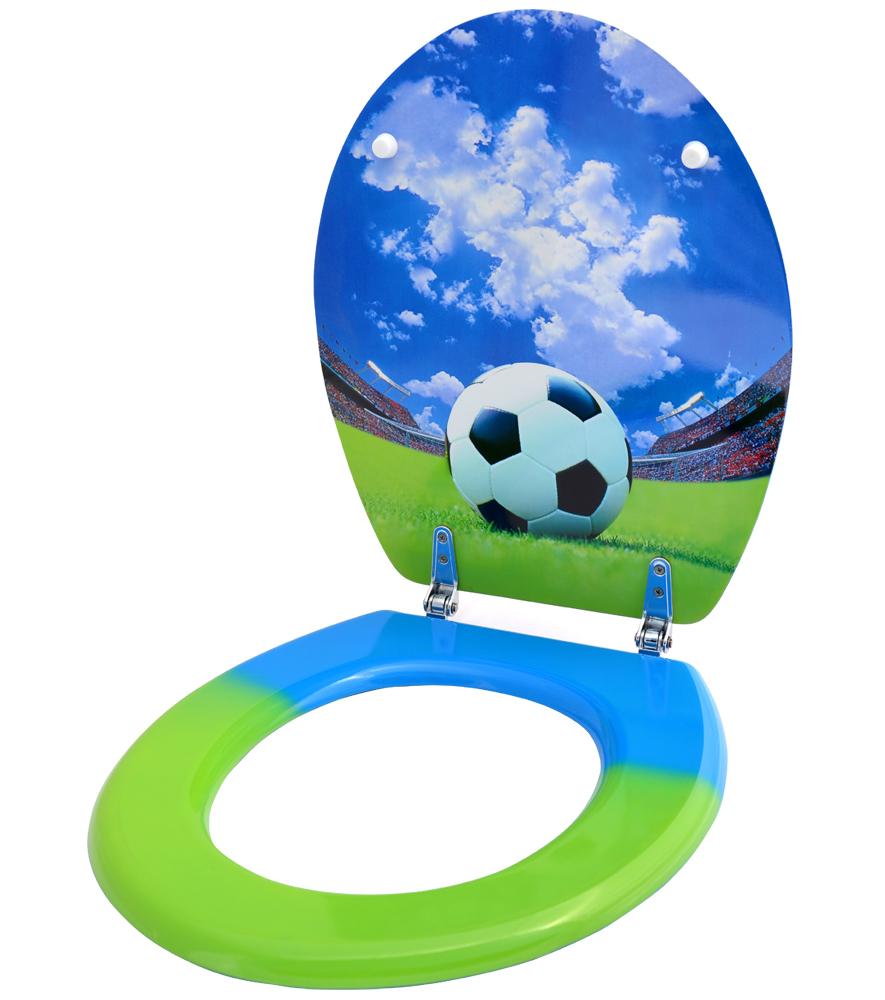 klobrille toilettensitz toilettenbrille wc brille klositz badezimmer fussball ebay. Black Bedroom Furniture Sets. Home Design Ideas