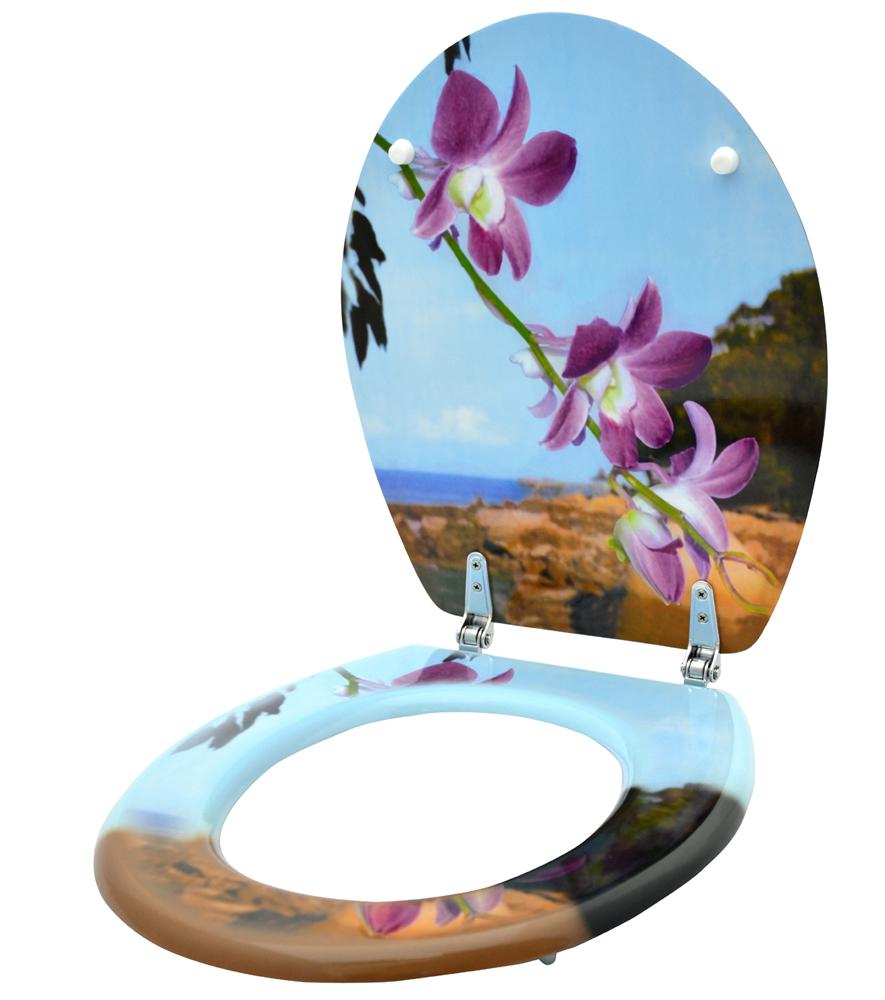 wc sitz toilettendeckel klodeckel klobrille wc deckel toilettensitz bad orchidee ebay. Black Bedroom Furniture Sets. Home Design Ideas