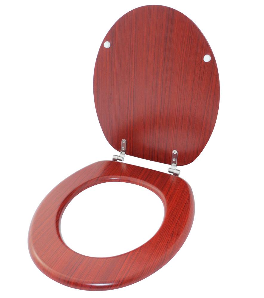 wc sitz toilettendeckel klodeckel klobrille deckel toilettensitz holz mahagoni. Black Bedroom Furniture Sets. Home Design Ideas