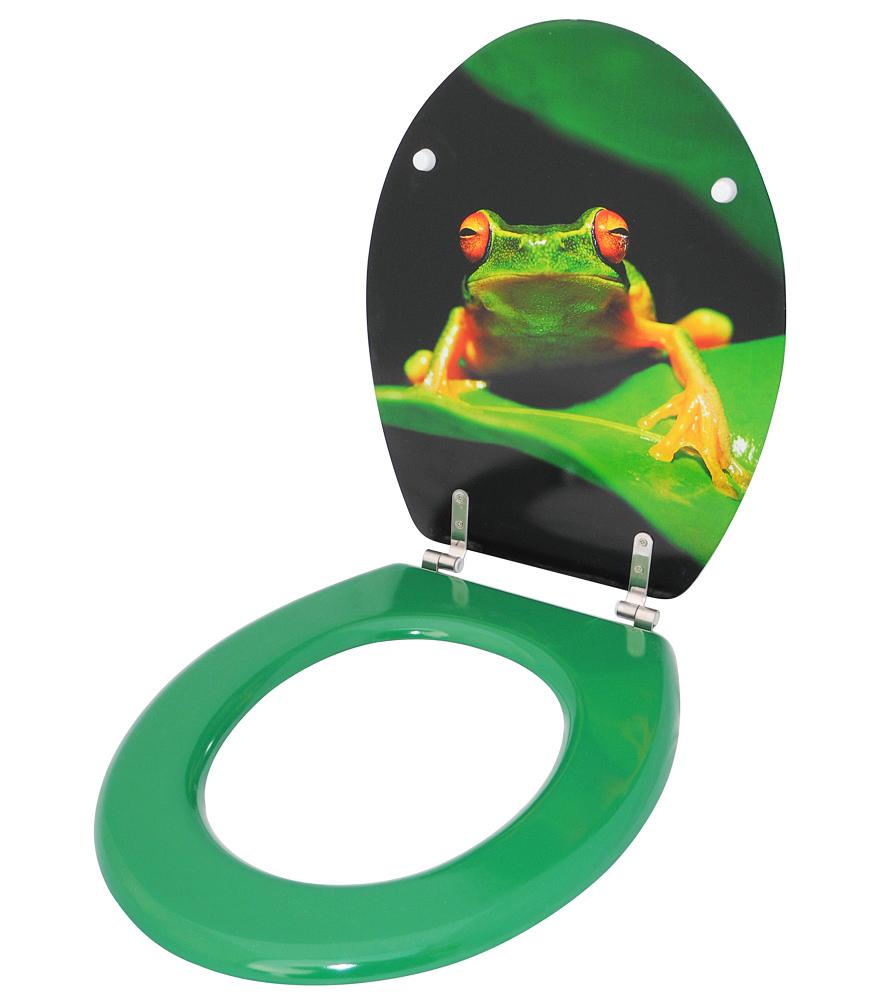 klobrille toilettensitz toilettenbrille wc brille klositz gr n design frosch. Black Bedroom Furniture Sets. Home Design Ideas