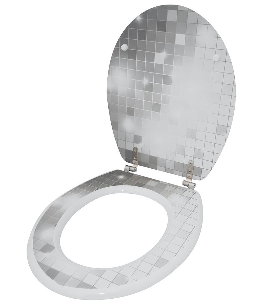 wc sitz toilettendeckel klodeckel klobrille wc deckel toilettensitz mosaic stars ebay. Black Bedroom Furniture Sets. Home Design Ideas