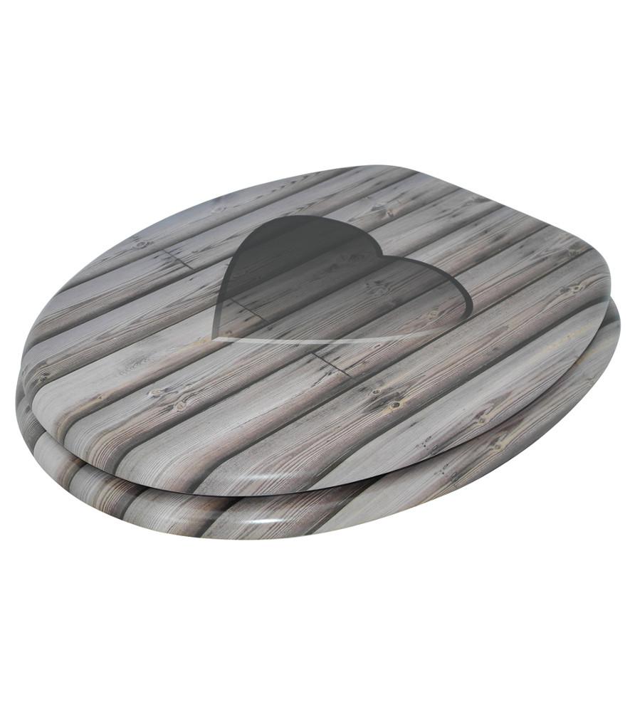 wc sitz toilettendeckel klodeckel klobrille wc deckel toilettensitz wooden heart ebay. Black Bedroom Furniture Sets. Home Design Ideas