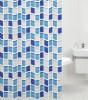 Duschvorhang Mosaik Blau 180 x 180 cm